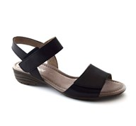 Gabor 'Entitled' Black low wedge with two adjustable straps